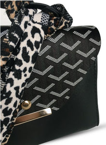 Women's Kerchief Accessory Black Crossbody Bag