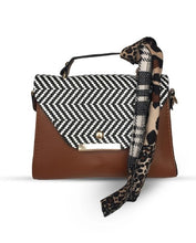 Load image into Gallery viewer, Women's Kerchief Accessory Brown Crossbody Bag