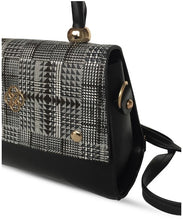 Load image into Gallery viewer, Women's Patterned Black Crossbody Bag