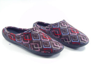 Women's Patterned Black Winter House Slippers
