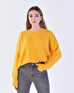 Women's Curved Hem Tricot Sweater