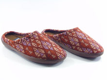Load image into Gallery viewer, Women's Patterned Brown Winter House Slippers