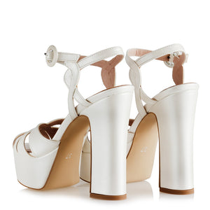 Women's Thick Heeled Platform Bridal Shoes