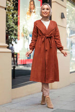 Load image into Gallery viewer, Women's Tie Waist Ginger Modest Coat