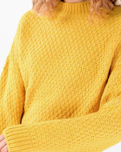 Women's Basic Yellow Sweater