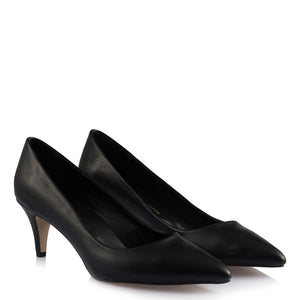 Women's Black Low Heeled Shoes
