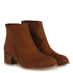 Women's Ginger Suede Heeled Boots