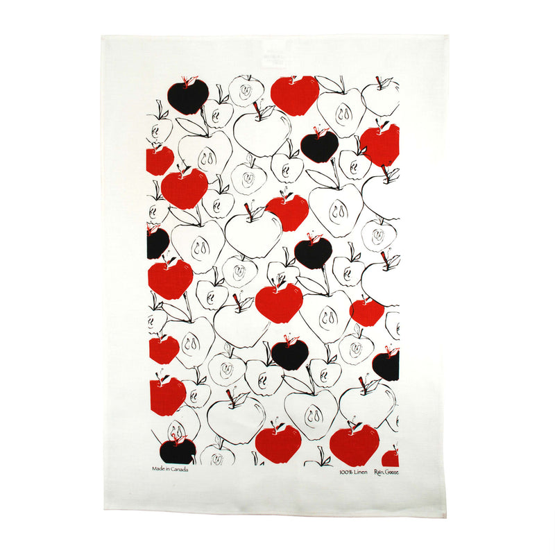 Tea Towel Apples Red