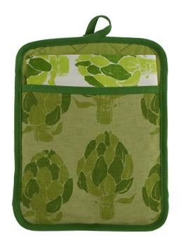 Pocket Pot Holder Artichoke