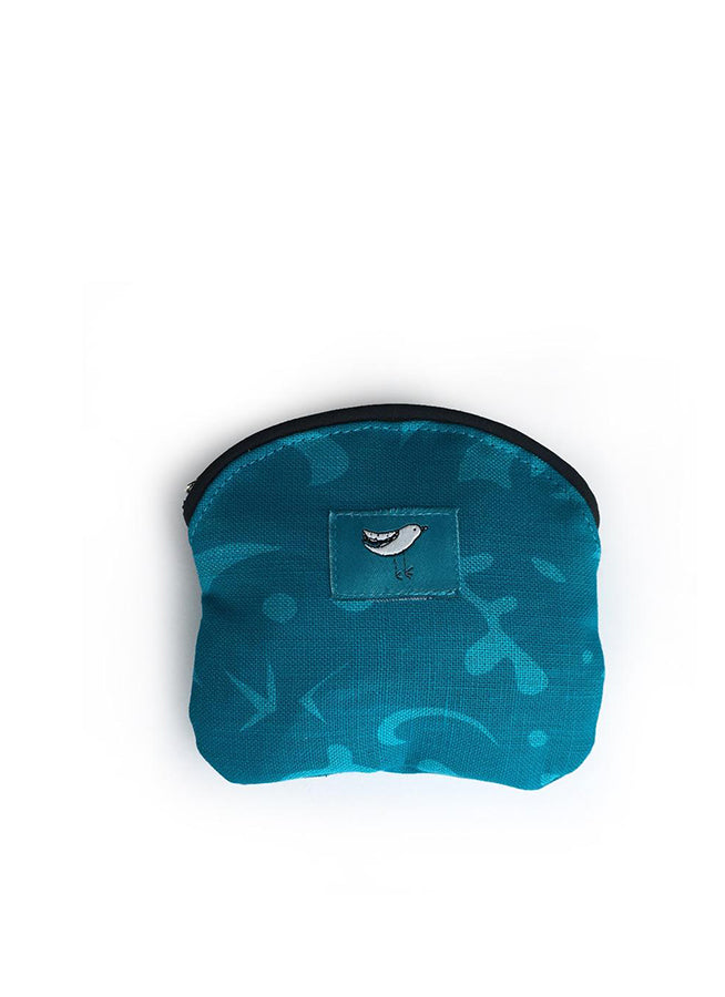 Coin Purse Bird Turquoise