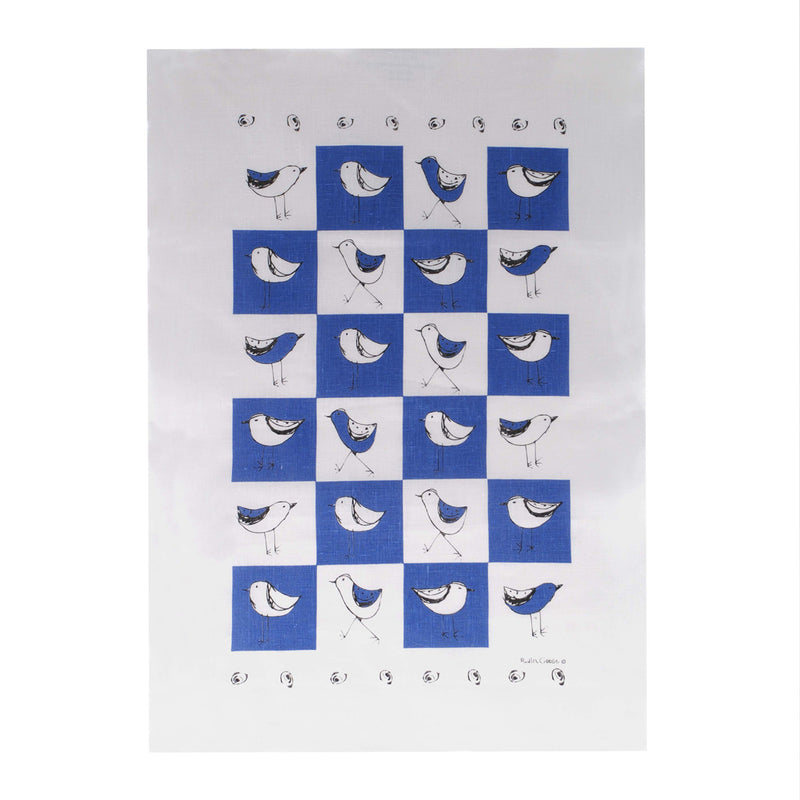 Tea Towel Bird Blue
