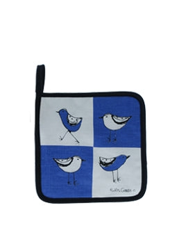 Pot Holder Bird Blue