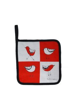 Pot Holder Bird Red