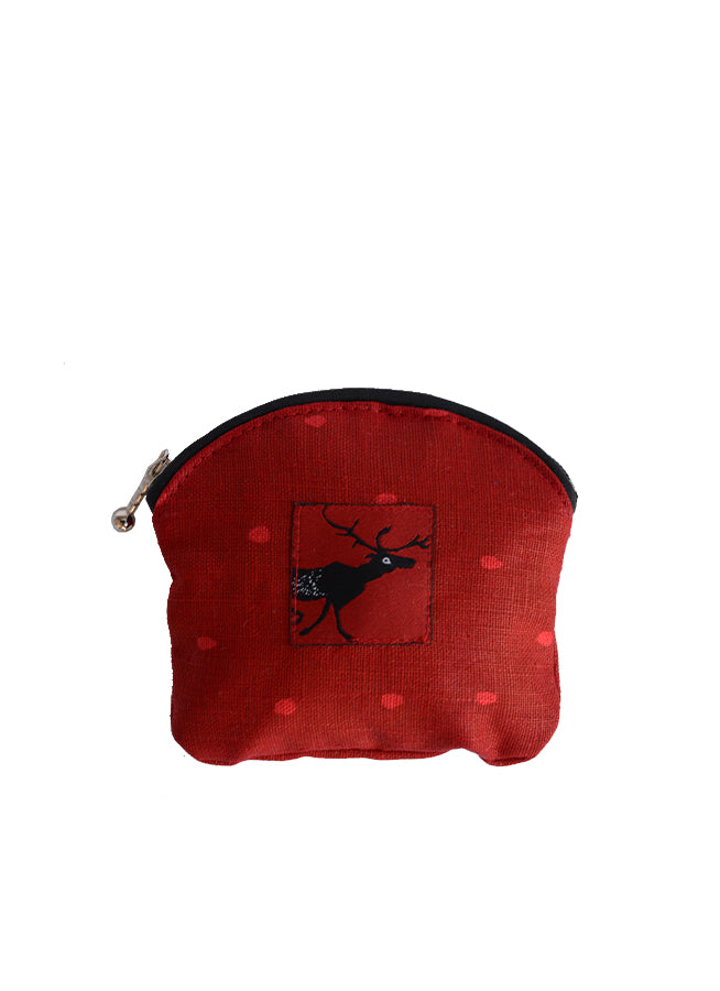 Coin Purse Cariboo Red