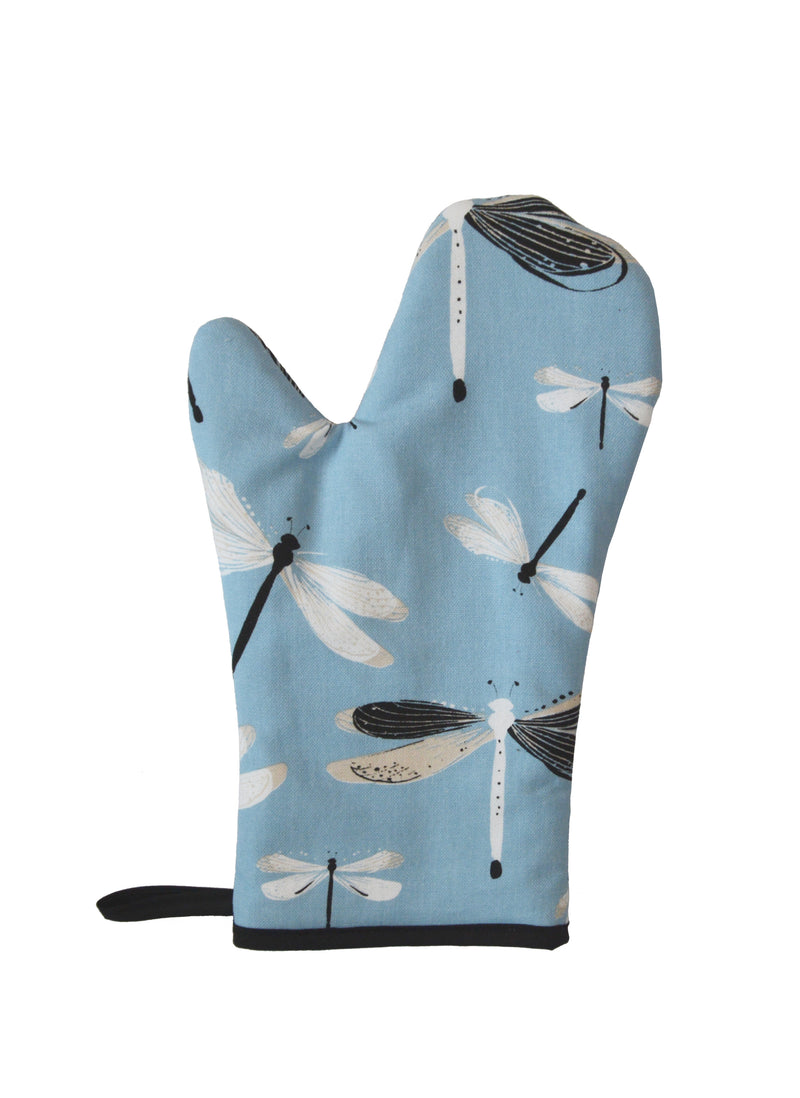 Oven Mitts Dragonfly Turquoise
