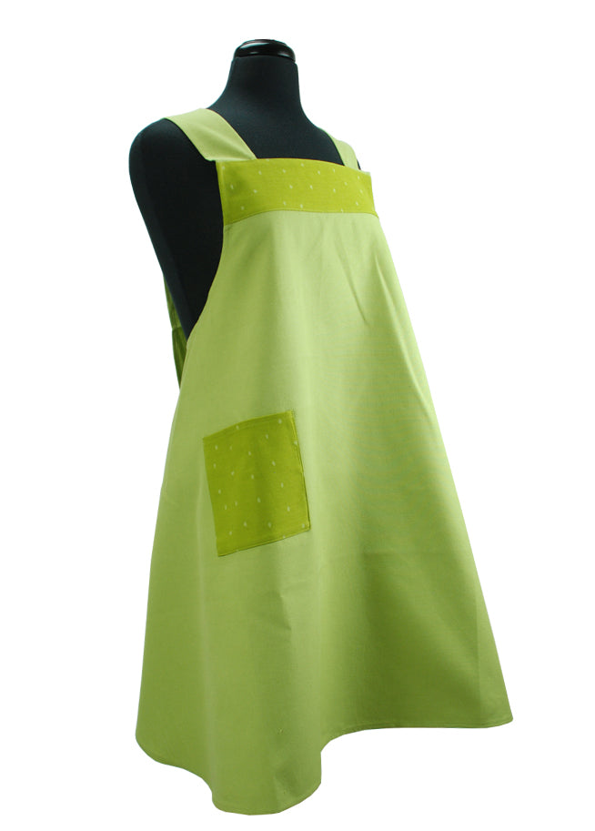 Japanese Apron Dots Green
