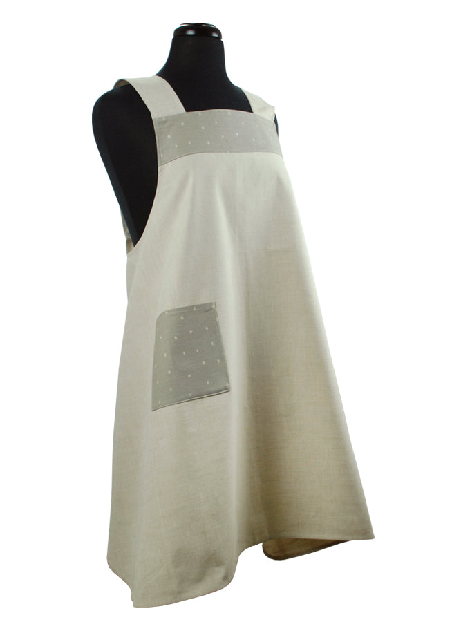 Japanese Apron Dots Natural