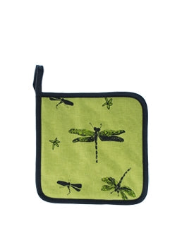 Pot Holder Dragon Fly Green