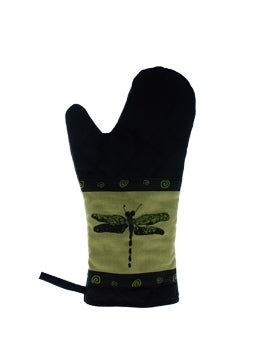Oven Mitts Dragon Fly Green