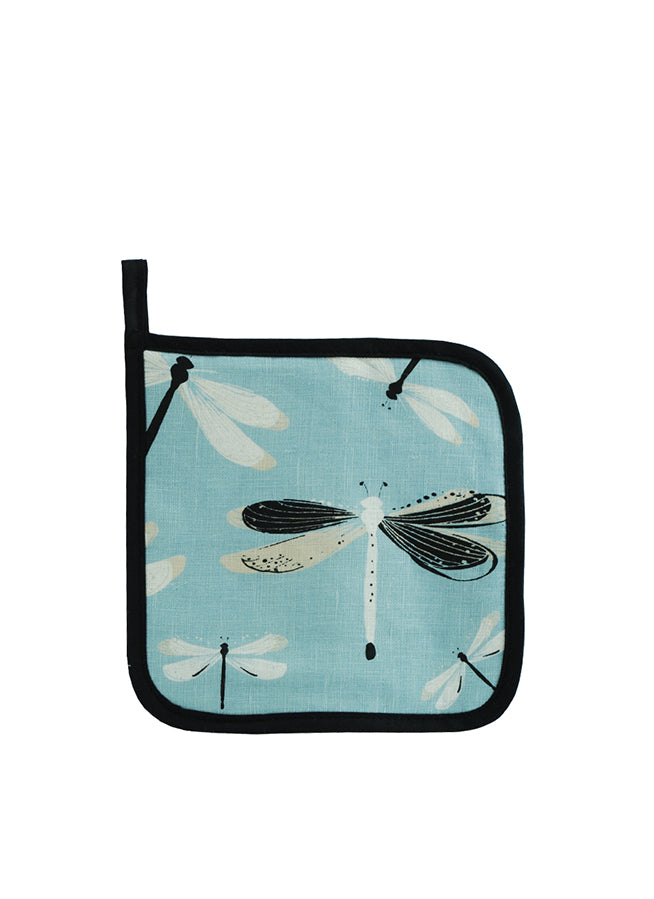 Pot Holder Dragonfly Turquoise