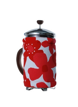 Bodum Coffee Covers Flowers Red White