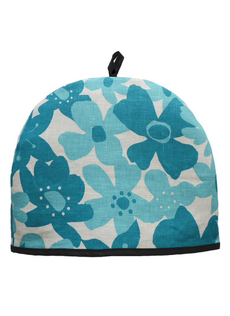 Tea Cozy Flowers Turquoise