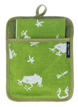 Pocket Pot Holder Frog Green