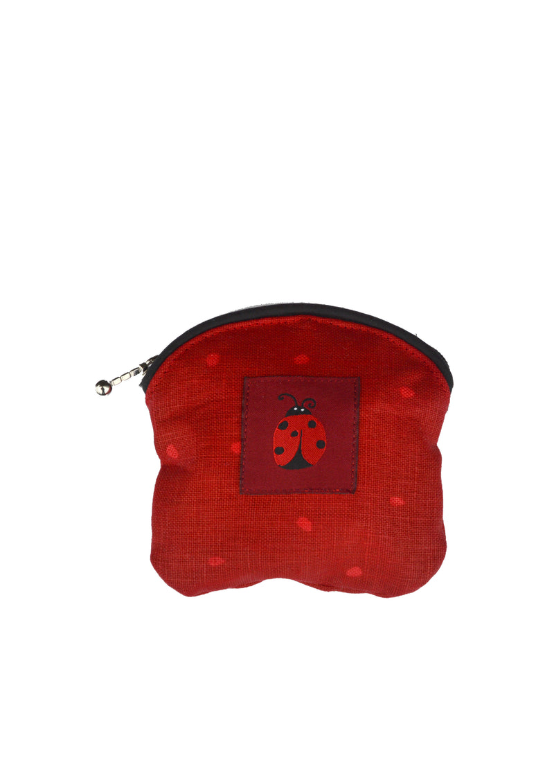 Coin Purse Ladybug Red