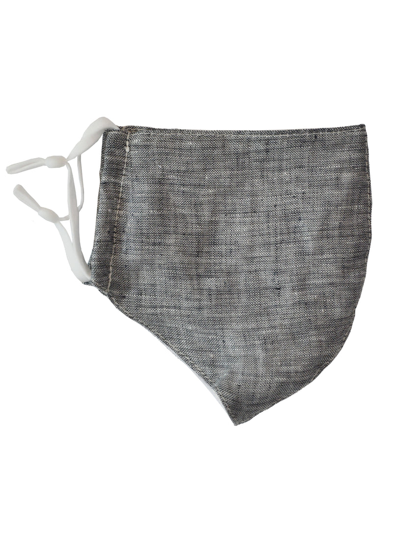 Linen Face Mask with Linen Lining Light Grey