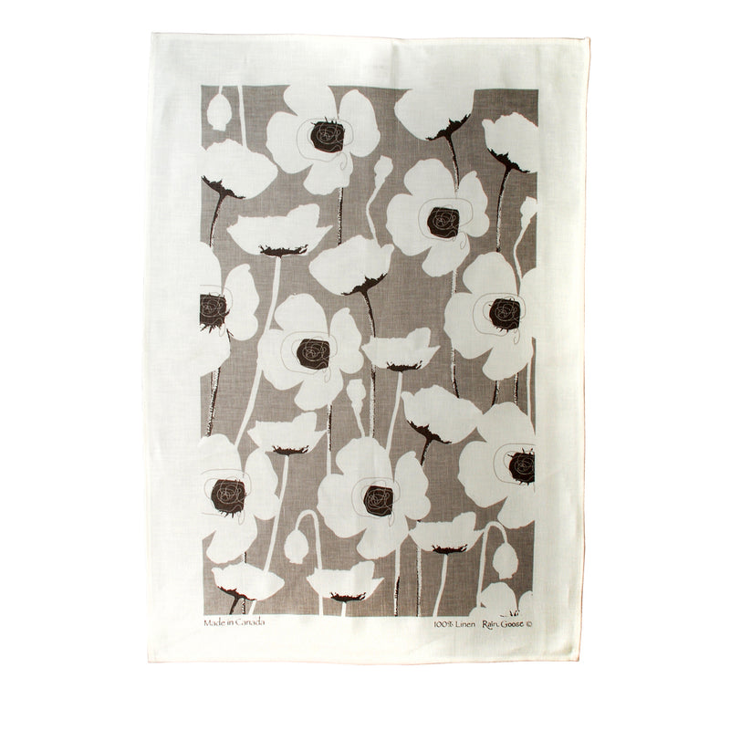 Tea Towel Poppy Taupe