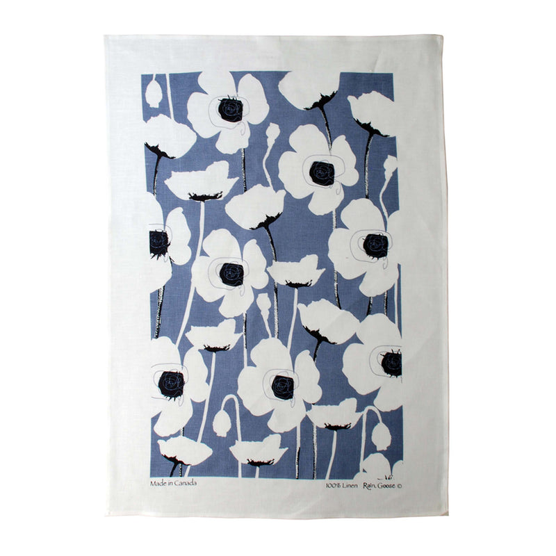 Tea Towel Poppy Blue