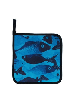 Pot Holder School Fish Blue