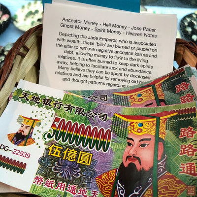 Ancestor Money - Chinese joss paper/U.S.Dollar - Strengthen Connection with Your Ancestor!