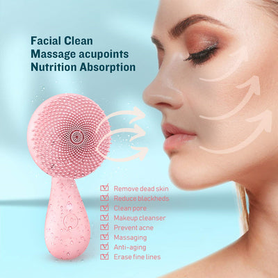 Best Hydra Vibrating Facial Brush—— Leaving your face refreshed and glowing, smoother than ever!