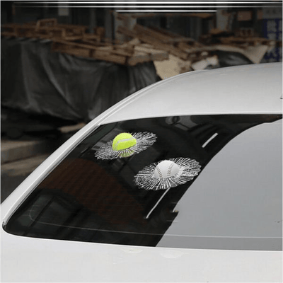 3D spoof car window sticker