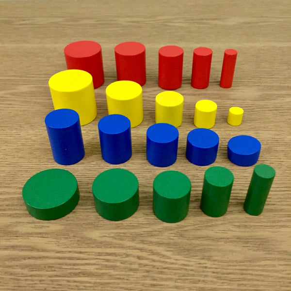 Montessori: Wooden Colorful Cylinders