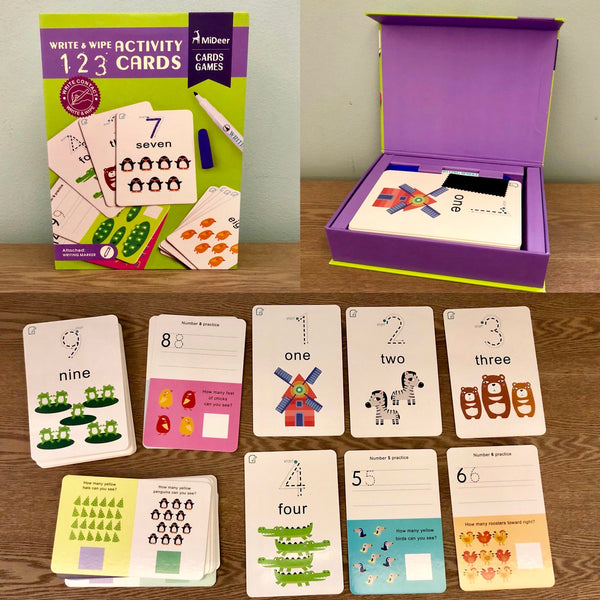 Write and Wipe Activity Cards: 123