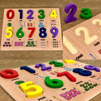 Wooden Numbers Puzzle