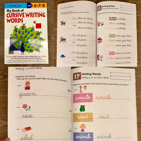 Kumon: My Book of Cursive Writing Words