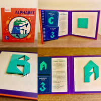 Alphabet Magnetic Tangram Book