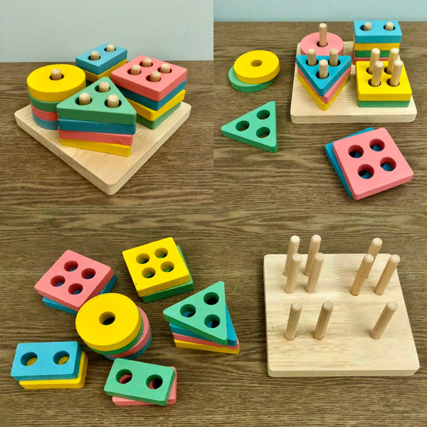 Wooden Shapes Stacker