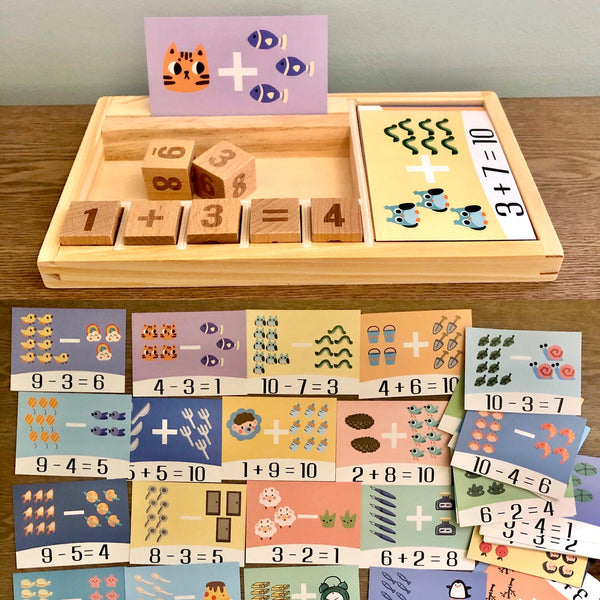 Math Blocks with Flashcards