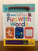 Fun with Words: Write and Wipe Activity Book