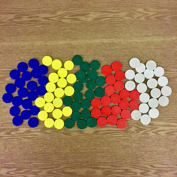 Wooden Colorful Counters