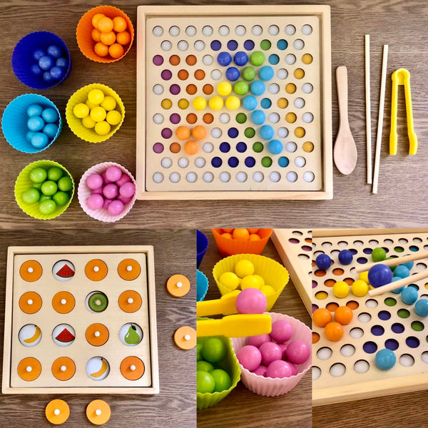 Beaded Memory 2-in-1 Game