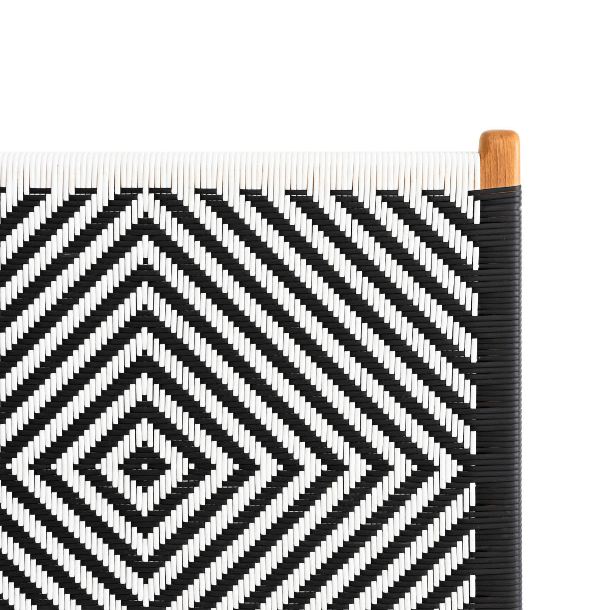Clifton Bedhead Woven Synthetic - Black & White