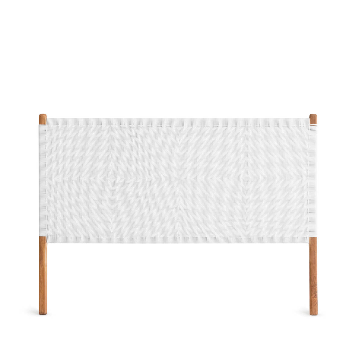 Clifton Queen Bedhead Teak - White