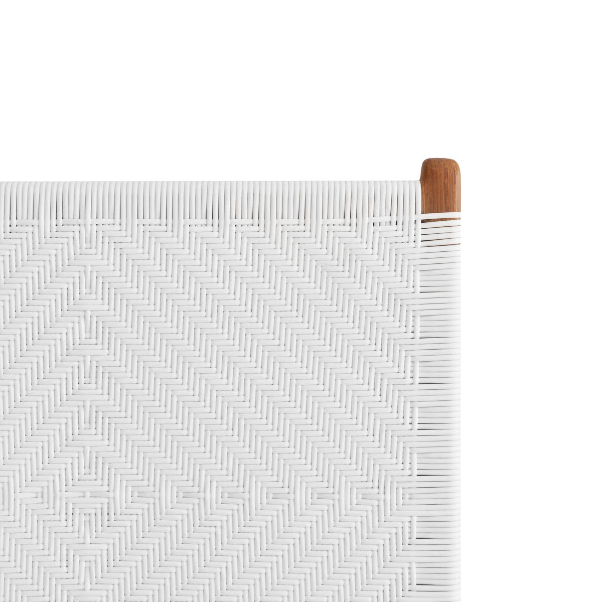 Clifton Bedhead Woven Synthetic - White
