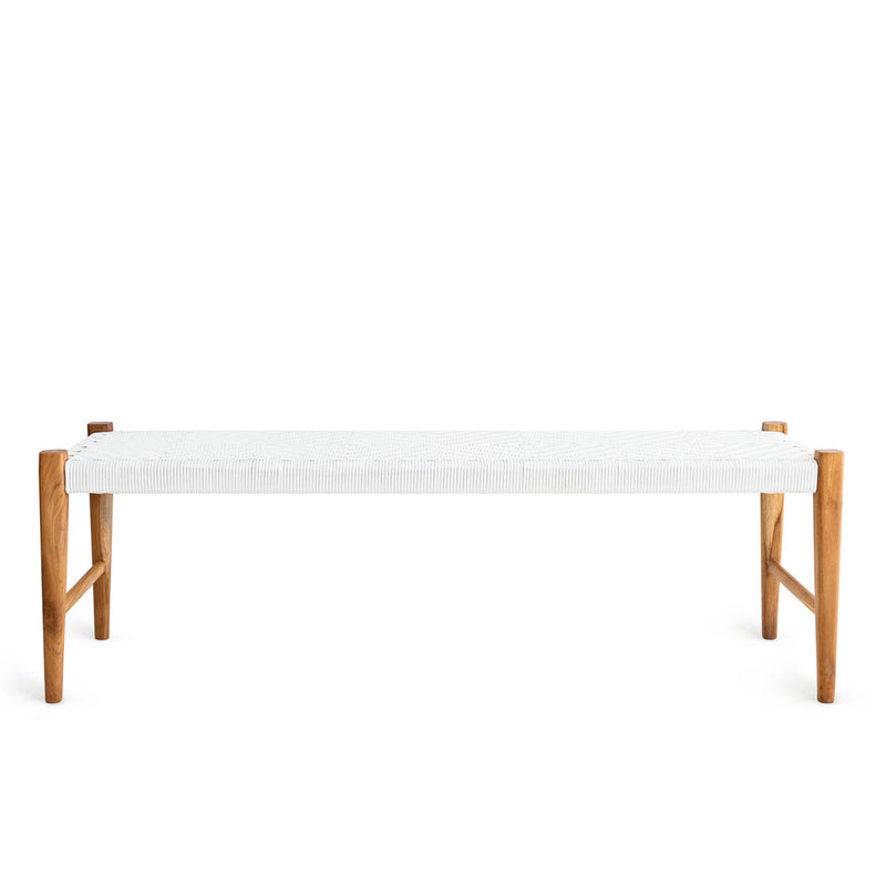 Kent Bench Teak - Synthetic White