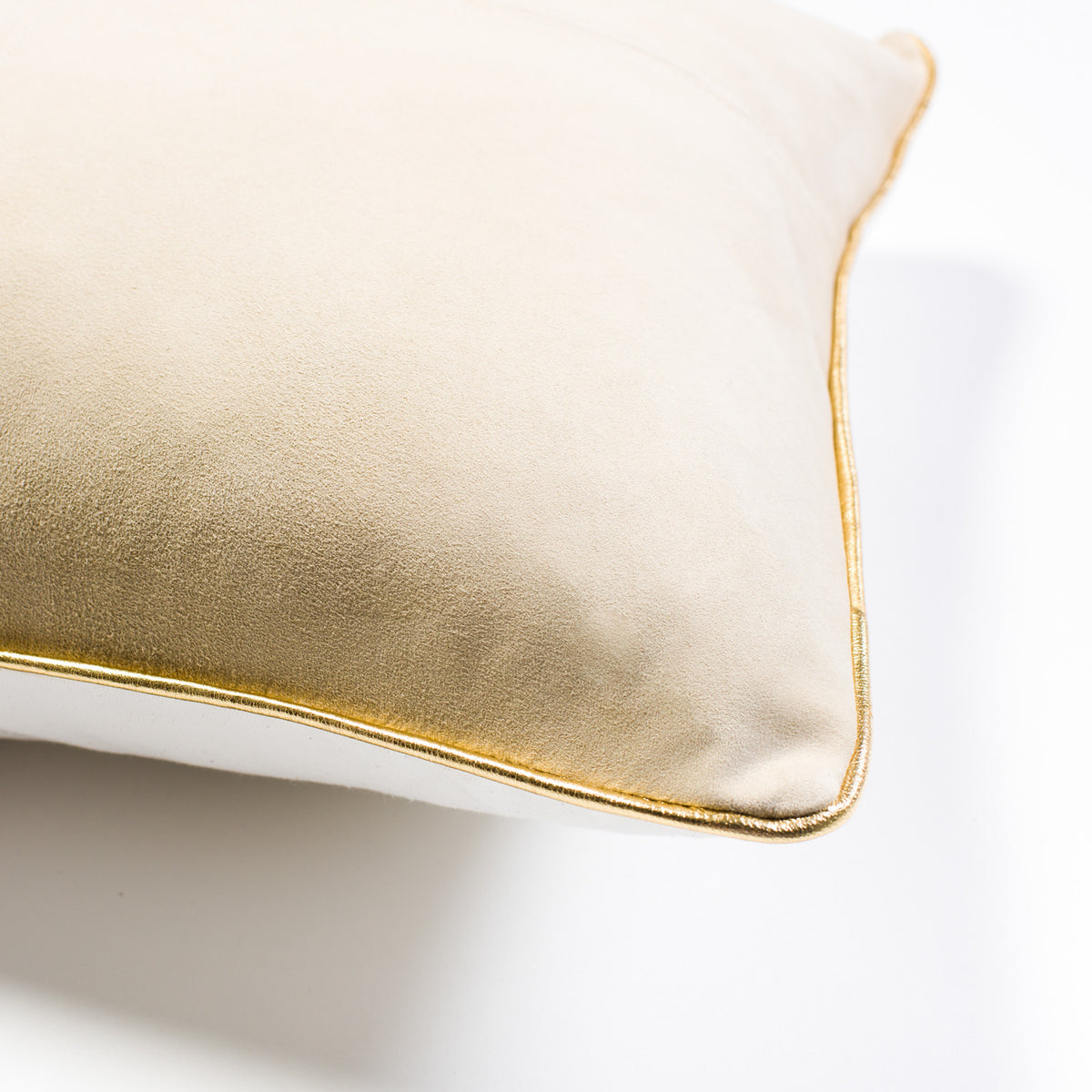Harper Suede Cushion - Sand